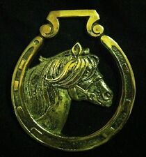 Vintage Oversized Horse Harness Brass SMALL PONY by JEE RARE!!! WOW YOUR WALLS!