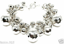 Graduated Hammered Beaded Bracelet Mexico Taxco Mexican 925 Sterling Silver