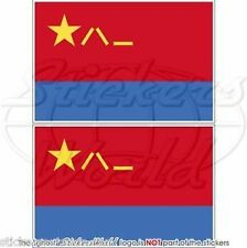 "CHINA Chinese AirForce PLAAF Flag Vinyl Bumper Decals Stickers 3"" (75mm) x2"