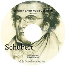 Massive Professional Franz Schubert Sheet Music Collection Archive Library DVD
