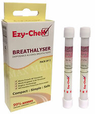 2pk Ezy-CheK Disposable Alcohol Breathalyser - UK & France NF Standards, 99% Acc
