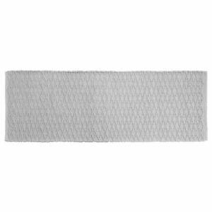 "mDesign Bathroom Cotton Rectangular Rug, Long Runner, 60"" x 21"" - Gray"