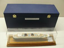 New listing Rare Disney Wonder Cruise Ship Model 1:1000 Scale With Case & Display Case