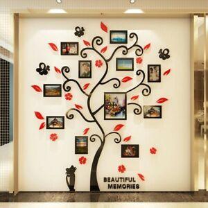 Acrylic 3D Wallpaper Photo Album Tree Shape Photo Frames Poster DIY Wall Sticker