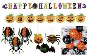 28 pcs Mega Halloween Decoration Pack Bundle Set Buntings Spider Balloons Bat UK