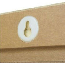 10 x WHITE KEYHOLE OPENINGS HANGERS 25mm BLOCK MOUNTS PICTURE FRAME FRAMING