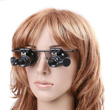 20X Magnifier Magnifying Eye Glasses Loupe Jeweler Watch Repair w/ LED Light New