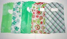 JOB LOT 50 verde in plastica sacchetti regalo gioielli PARTY 15x9cm