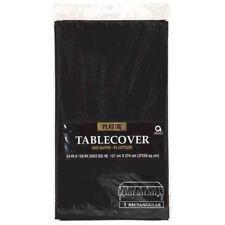 Jet Black Plastic Tablecover 54 x 108 Tablecloth