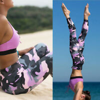 Womens Running Yoga Fitness Leggings Gym Sports Pants Compression Trousers