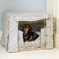 Lords & Labradors Grey Spot Stripe Dog Crate Cover to fit Ellie-Bo Crates