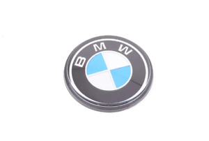 BMW 2000-3.2 Coupe E9 Steering Wheel Plague Emblem Badge 32711238280 NEW GENUINE