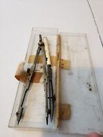 Vintage Staedtler Mars Drafting Compass Set Metal
