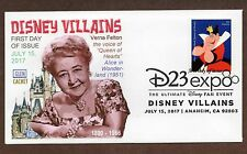 DISNEY VILLAINS -10 EA. GLEN CACHET FIRST DAY COVERS ~ PICTORIAL CANCEL 2017