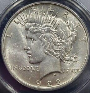 1922 D Peace Dollar AU 58 ANACS