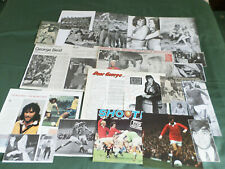 GEORGE BEST  MANCHESTER UNITED  PLAYER - CLIPPINGS /CUTTINGS PACK - #2
