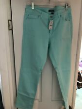 WHITE HOUSE BLACK MARKET BLANC SLIM ANKLE SEA GLASS JEANS SIZE 12R NWT