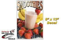 Smoothies 8''x13'' Decal for Ice Cream Parlor or Concession Food Trailer