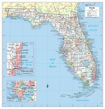 FLORIDA State Wall Map Large Print Poster
