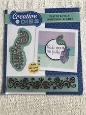 Creative Dies Peacock cutting die & feather pattern border embossing folder set