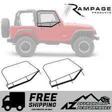 Rampage Window Frames - Black fits 1997-2006 Jeep Wrangler TJ / LJ Unlimited