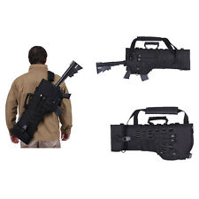 Black Bag Tactical Rifle Scabbard AR15 M4 Rifle Holster Military Shoulder Carry