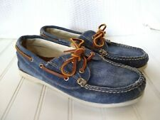 LL Bean Signature Womens Size 8.5M Denim Boat Shoes Lace Up Loafers Casual
