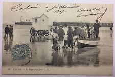 CPA Calais - La plage et la jetée #c268