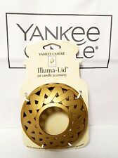 Yankee Candle llluma Lid Metal Jar Topper, NEW