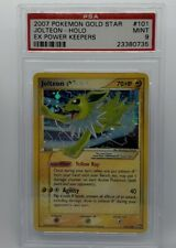 PSA-9 Pokemon (Gold Star) JOLTEON Card EX POWER KEEPERS Set 101/108 Holo MINT