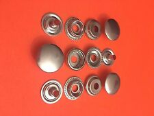 "25 Set 15 mm ( 5/8"") Poppers Snap Fastener Ring Socket Nickel Plated Solid Brass"