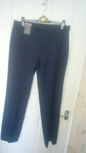 BNWT MENS MARKS AND SPENCER COLLECTION FLATFRONT TROUSERS INDIGO WAIST 36 LEG 33