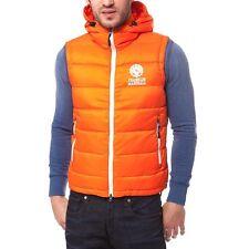 200$ Franklin Marshall orange hooded vest Size M Medium New with tags