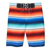 NWT Gymboree Getaway Shop Boys Ombre Striped Board Shorts Swim Trunks Swimsuit