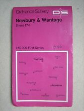 Ordnance OS 1:50000 scale map 174 Newbury & Wantage (1975) - very good condition
