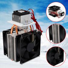 Thermoelectric Peltier Refrigeration Cooling System Kit Cooler Fan Diy 12V 72W