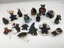 lot of 16 Jeff Fleming Big Sky Carvers Bearfoots Black Bear Ornaments