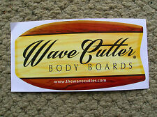 wave cutter body board surfboard surfing longboard surfer sticker original woody
