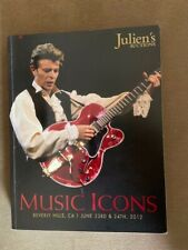 Music Icons Julien's Auction catalog June 2012, David Bowie on the cover