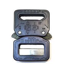 austrialpin 25mm/2.5cm Noir Mat Cobra boucle + Noir CLIPS fc25mvf-b (ceinture