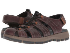 Clarks Men's Brixby Cove Sz US 13 M Brown Leather Fisherman Sandals $100.00