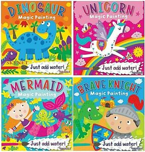 SQUIGGLE CHILDREN'S MAGIC PAINTING BOOKS - 4 DESIGNS  TO CHOSE FROM,