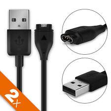 2x Cavo USB Dati per Garmin vivoactive 3 Approach S60 Filo ricarica nero