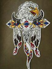 Iron-on/Sew-On Embroidered PatchBuffaloSkull,SouthwestDesigns,EagleFeathers,Bead