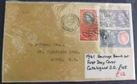 1961 Savings Bank Centenary First Day Cover Chiswick London W4 Postmark SM21