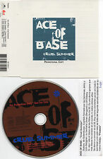 "ACE OF BASE ""CRUEL SUMMER"" RARE PROMO CD SINGLE + PRESS NOTE FOR DJ IN SPANISH"