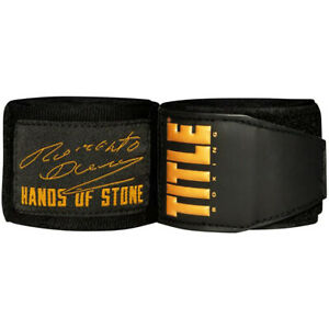 Title Boxing Roberto Duran Hand Wraps - Black