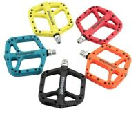 1 pair MTB Mountain Bike Bicycle Bearing Pedals Cycling Wide Nylon Bike Pedals