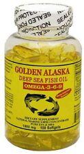 Golden Alaska Deep Sea Omega-3-6-9 Fish Oil 1000mg 300 Softgels
