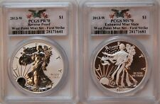 2013 W West Point Set 2 Coins PCGS PR 70, MS 70 First Strike with OGP